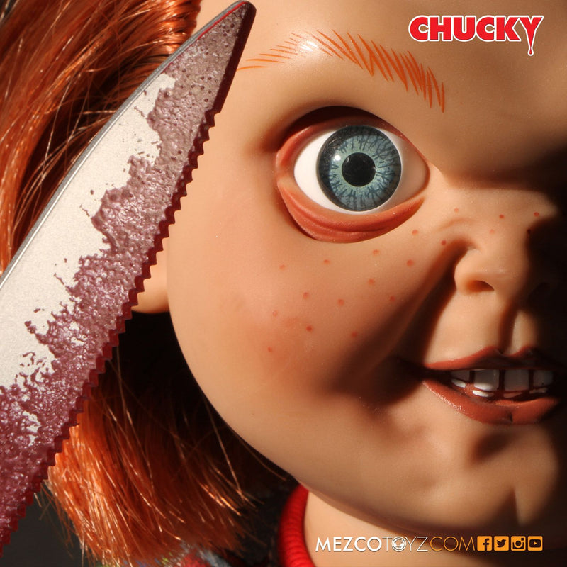 CHILDS PLAY OFFICIAL CHUCKY GOOD GUY EVIL LOOK SFX DOLL BY MEZCO TOYZ