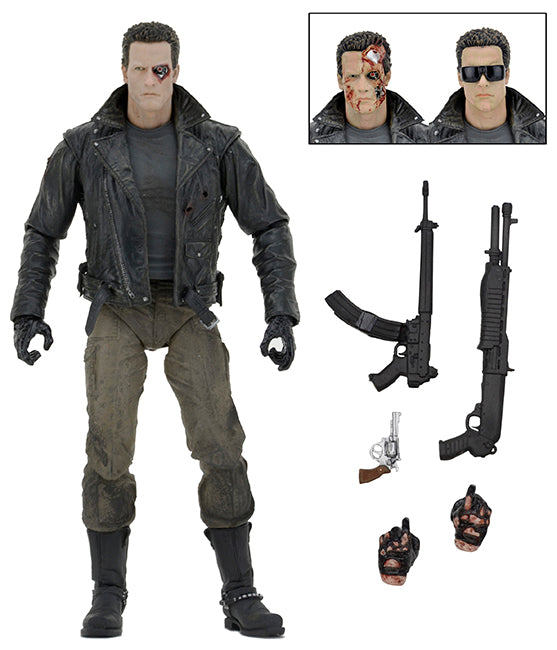 Terminator Official Ultimate T-800 Police Station Assault Figure NECA