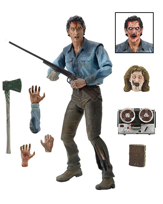 "Evil Dead 2 Official Ash 7"" Ultimate Figure by NECA"
