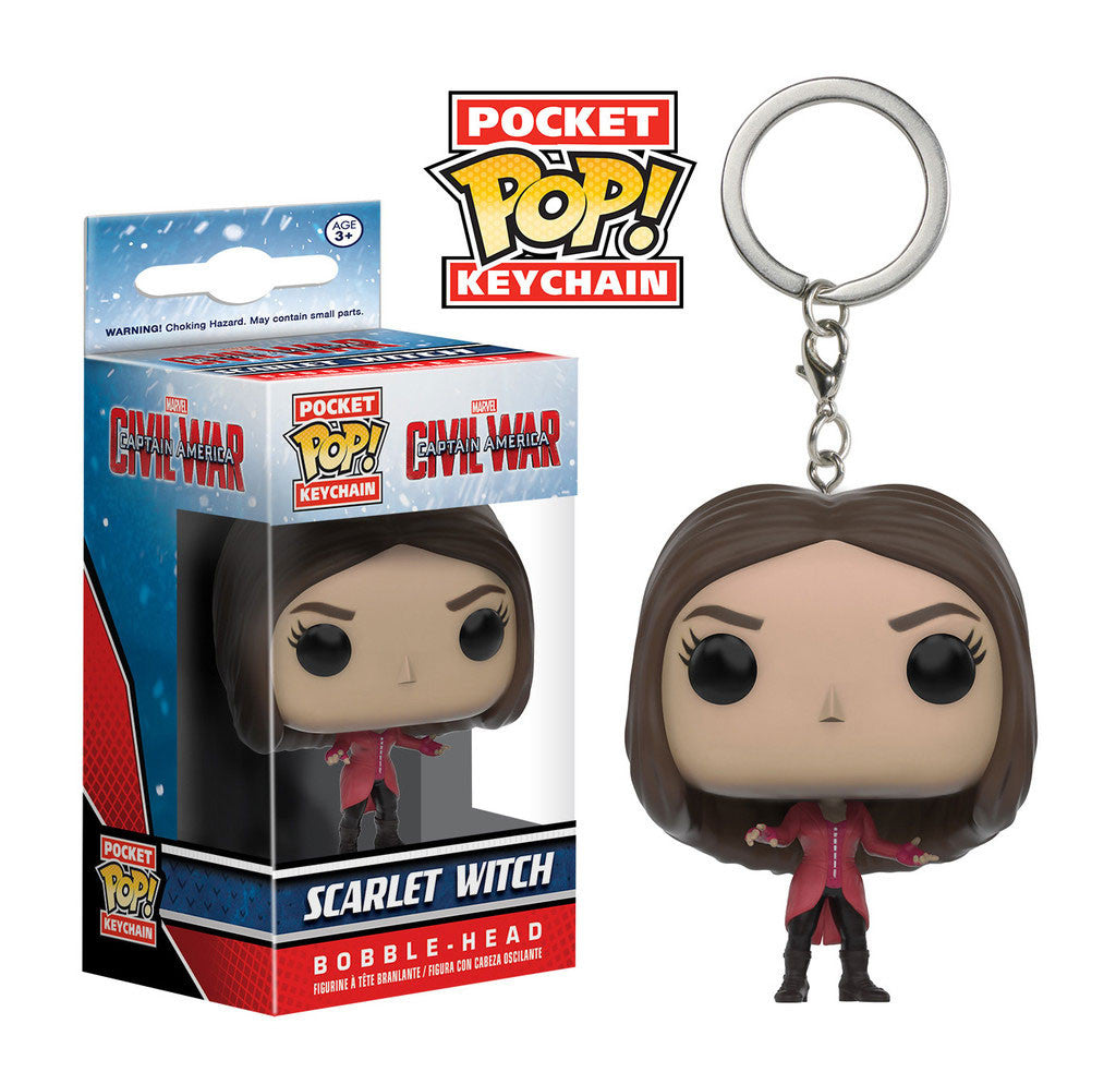 MARVEL Scarlet Witch (Civil War) Official Keychain by Funko Pop!