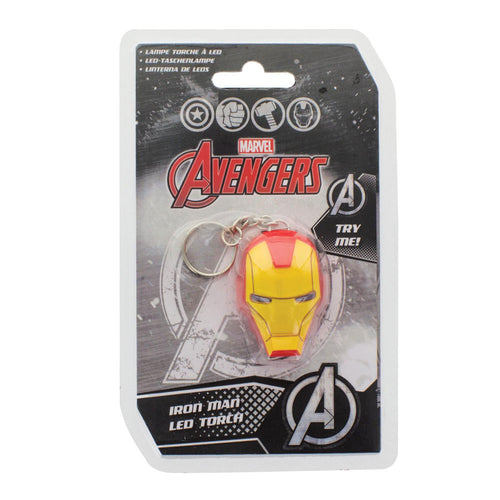 MARVEL Iron Man Official LED Light Up Helmet Keychain