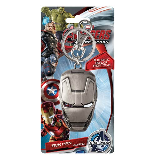 MARVEL Iron Man Helmet Official Pewter Keychain by Monogram