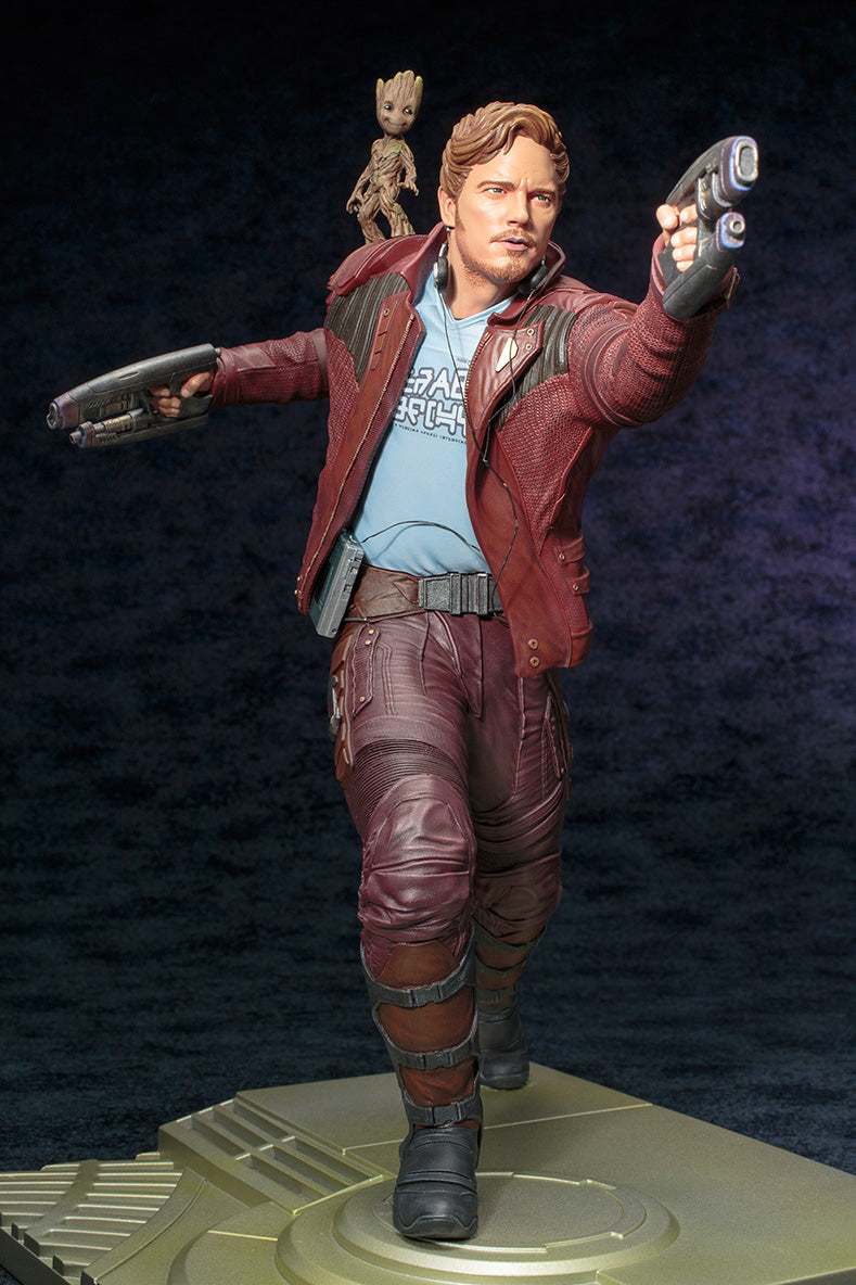 Guardians of The Galaxy Official Star-Lord & Groot ARTFX Statue Kotobukiya