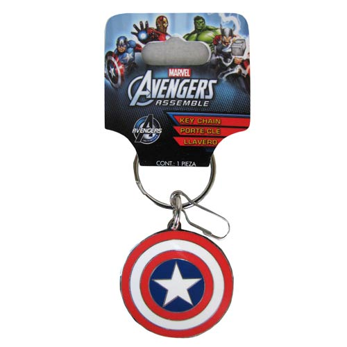 MARVEL Captain America Official Shield Coloured Keychain by Monogram