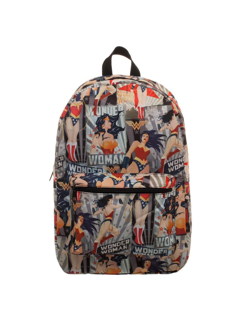 DC COMICS OFFICIAL WONDER WOMAN VINTAGE POSTER BACKPACK BY BIOWORLD