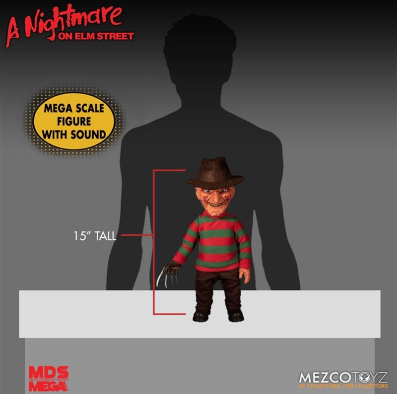 Nightmare On Elm Street Freddy Krueger MDS Figure with SFX - Mezco Toys