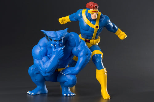 MARVEL Official X-Men Cyclops and Beast Artfx+ Statues Kotobukiya