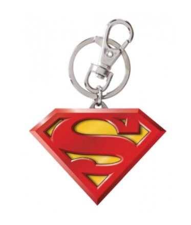 DC Comics Official Superman Logo Pewter Coloured Keychain