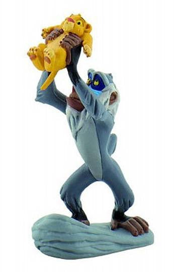 Disney Lion King Official Rafiki with Simba (Cub) Figure by Bullyland