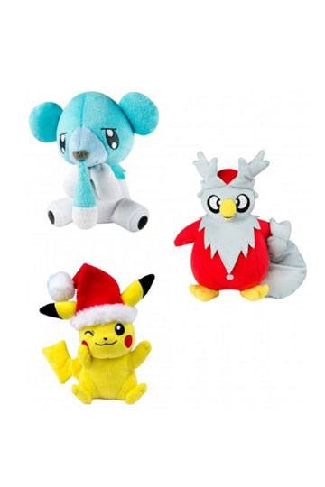 Pokemon Xmas Official 20cm Plushes by Tomy