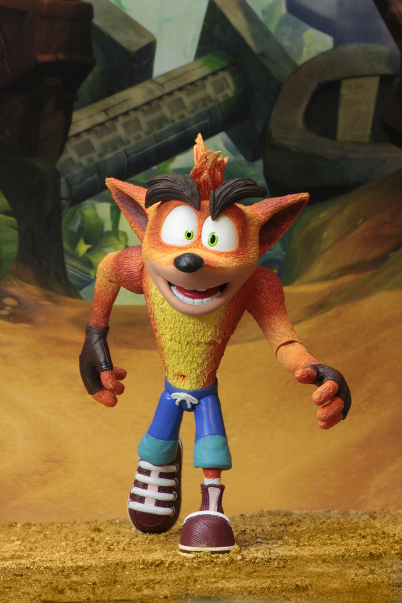 Crash Bandicoot Official Figure with Crate Accessory by NECA