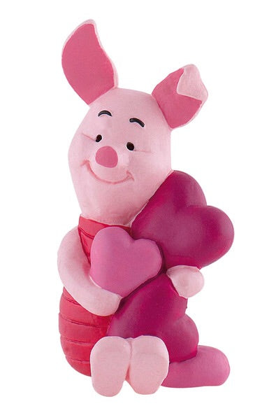 Disney Winnie the Pooh Official Piglet with Hearts Figure by Bullyland