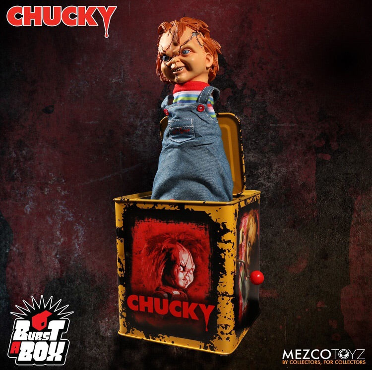 Child's Play 3 Chucky Scarred Face Burst-A-Box - Mezco Toyz