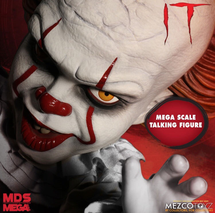 IT Pennywise Mega Scale SFX Doll By Mezco Toyz