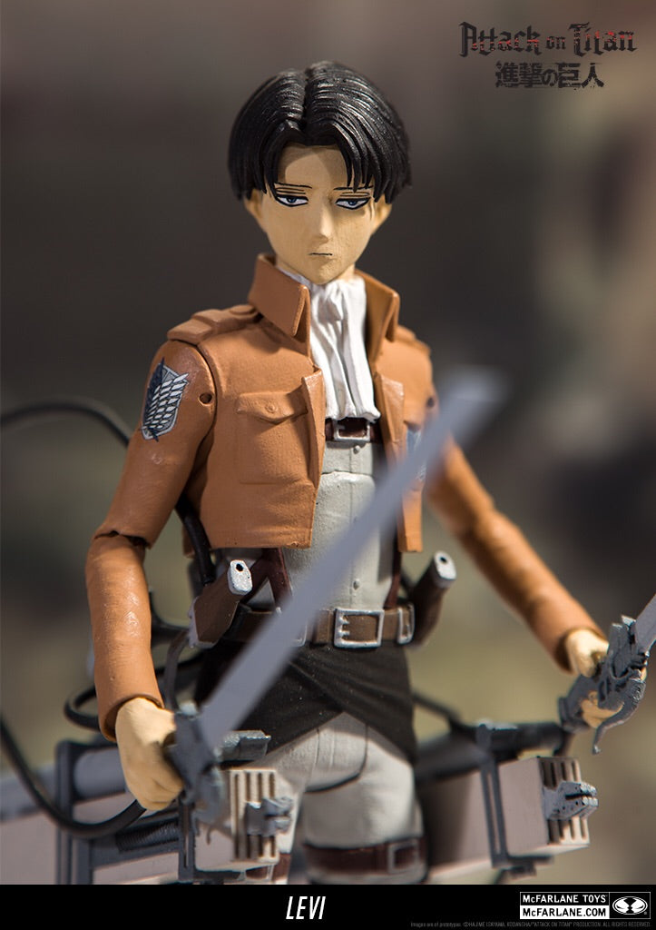 "Attack on Titan Official Levi 7"" Official Figure by McFarlane Toys"