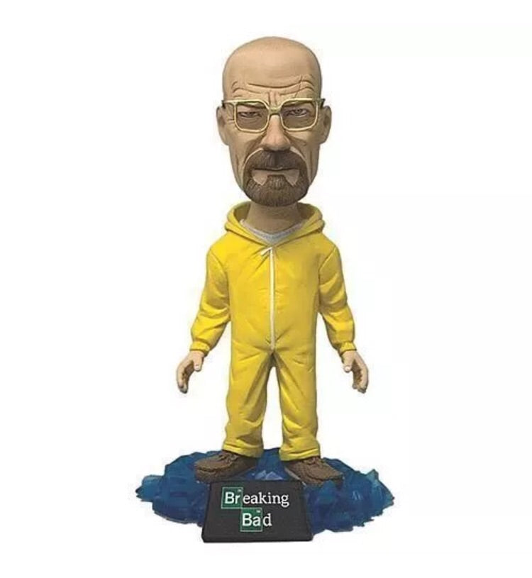 Breaking Bad Official Walter White Bobble Head Yellow Hazmat Suit