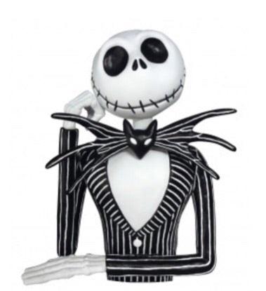 Nightmare Before Christmas Official Jack Skellington Bust Bank Monogram