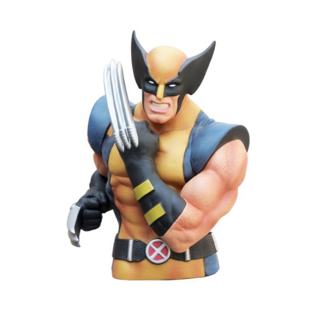 MARVEL Wolverine Official Bust Bank by Monogram