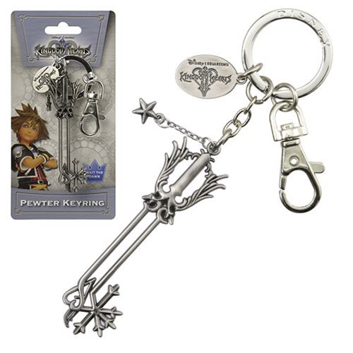 Kingdom Hearts Official Oathkeeper Keyblade Pewter Keychain Monogram
