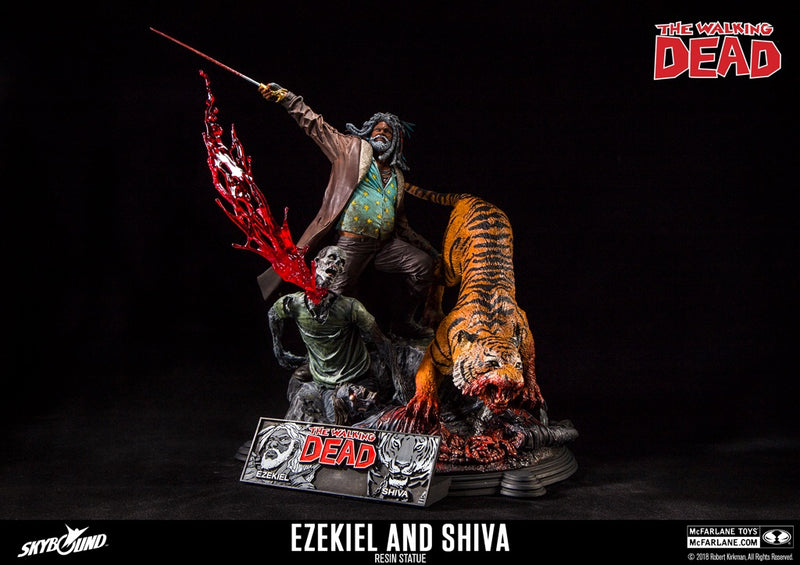 The Walking Dead Official Ezekile & Shiva Resin Statue McFarlane Toys