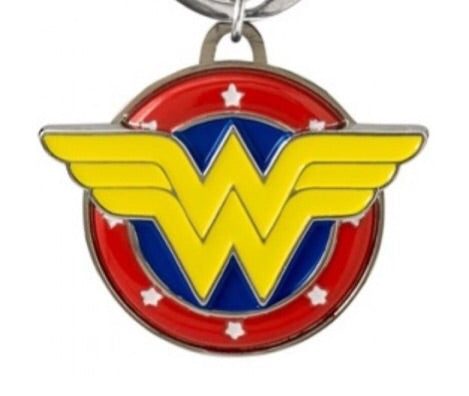 DC Comics Official Wonder Woman Logo Pewter Keychain by Monogram