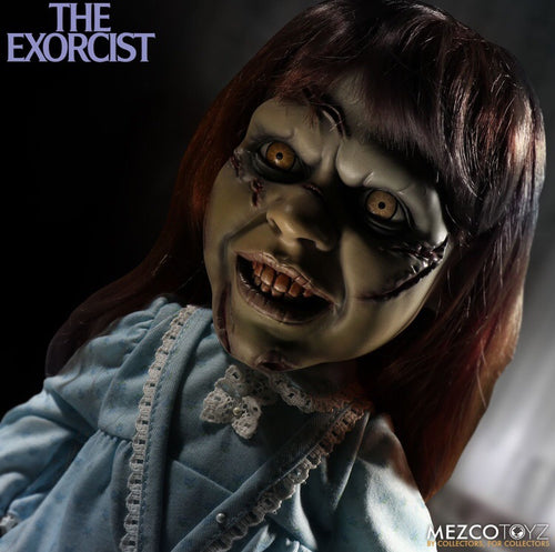 "The Exorcist Official 15"" Mega Scale Regan Figure with SFX Mezco Toys"