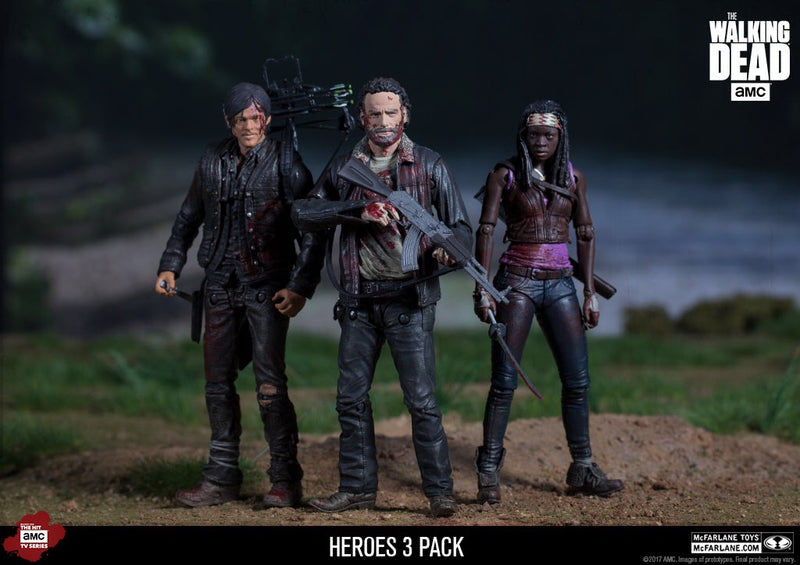 The Walking Dead Official Deluxe Hero 3-Pack Figures by McFarlane Toys