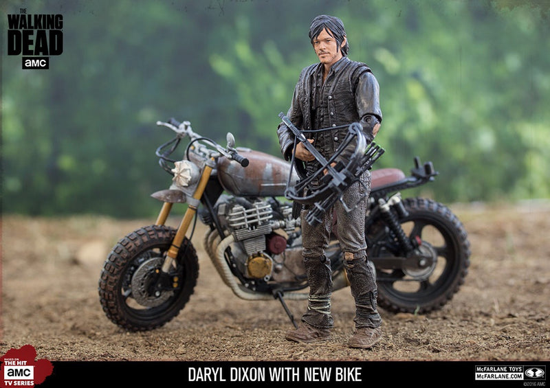 The Walking Dead Official Daryl Dixon with Motorbike McFarlane Toys
