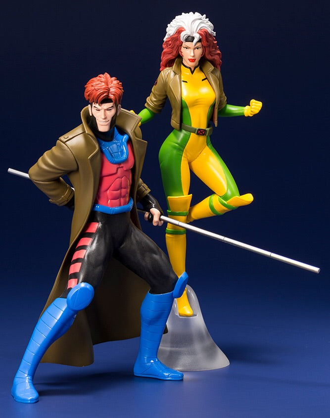 MARVEL X-Men Gambit & Rogue (1992) ARTFX+ Statue - Kotobukiya
