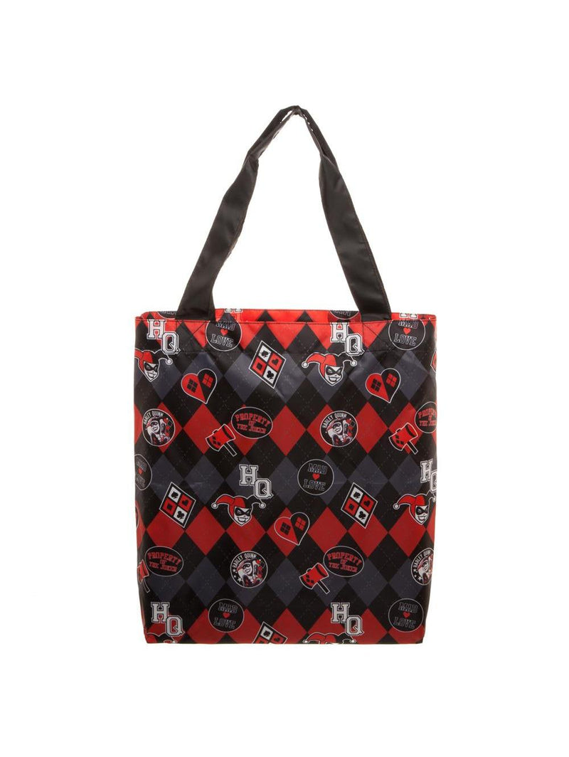 DC Comics Official Harley Quinn Packable Tote Bag by BIOWORLD