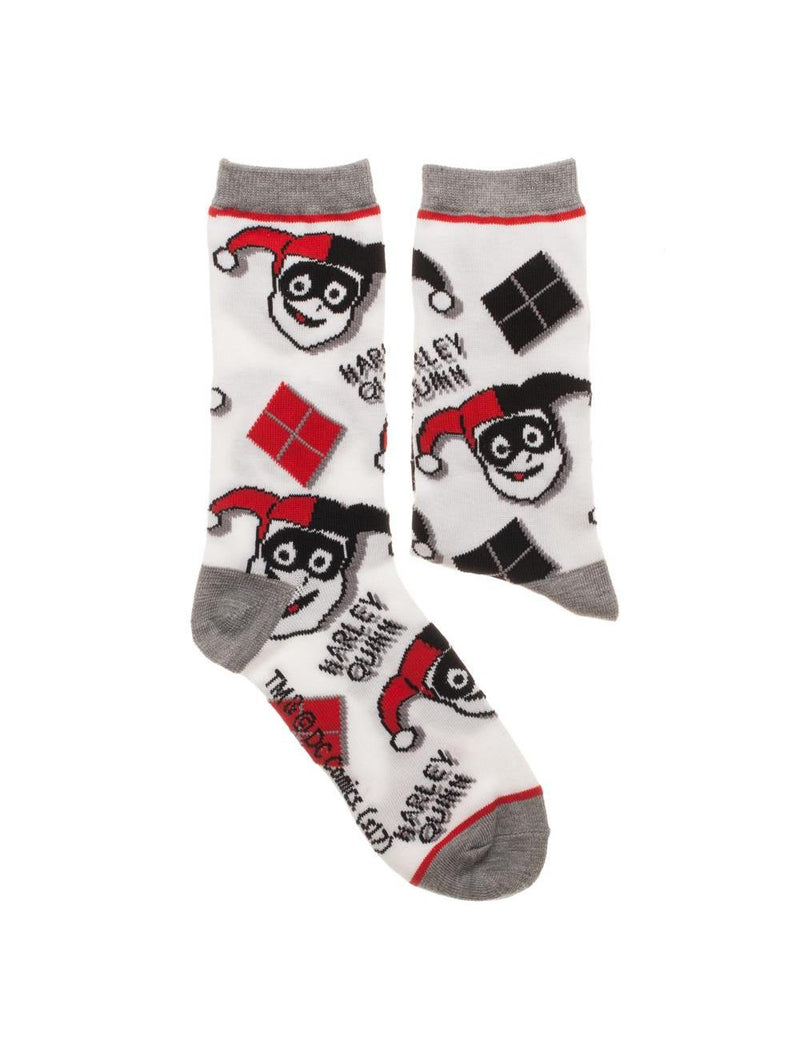 DC COMICS OFFICIAL HARLEY QUINN 2 PACK SOCKS BY BIOWORLD