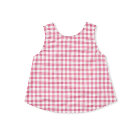 Gingham Cross Top