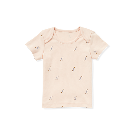 Crew-Neck Tee With Bees