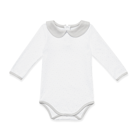 Baby Long-Sleeve Onesie With Stars