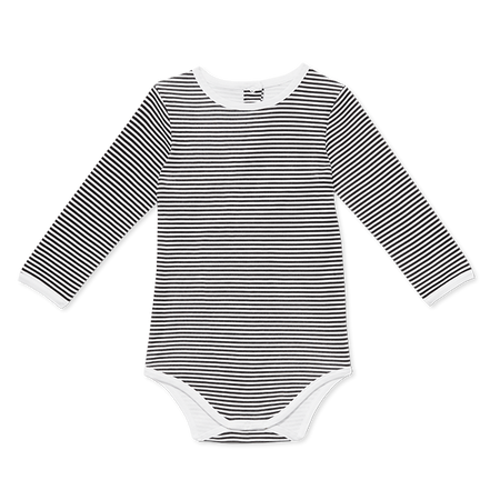 Baby Long-Sleeve Onesie In Stripes