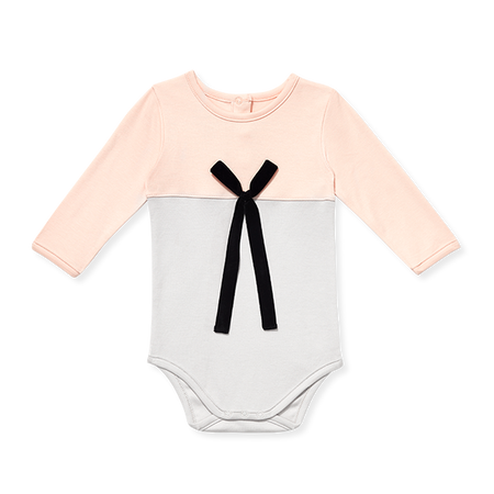 Baby Long-Sleeve Onesie With Bow