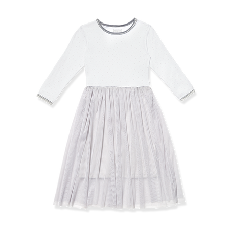Girl Grey Stars Dress