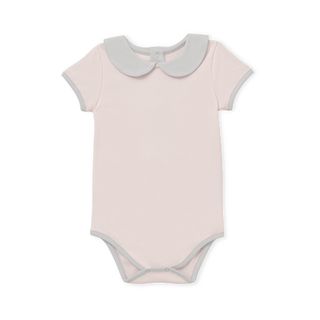 Baby Girl Collared Onesie