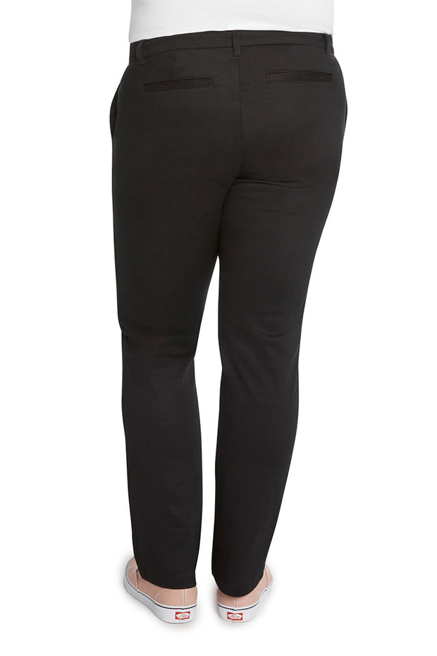 Plus Size 4 Pocket Straight Leg Pant