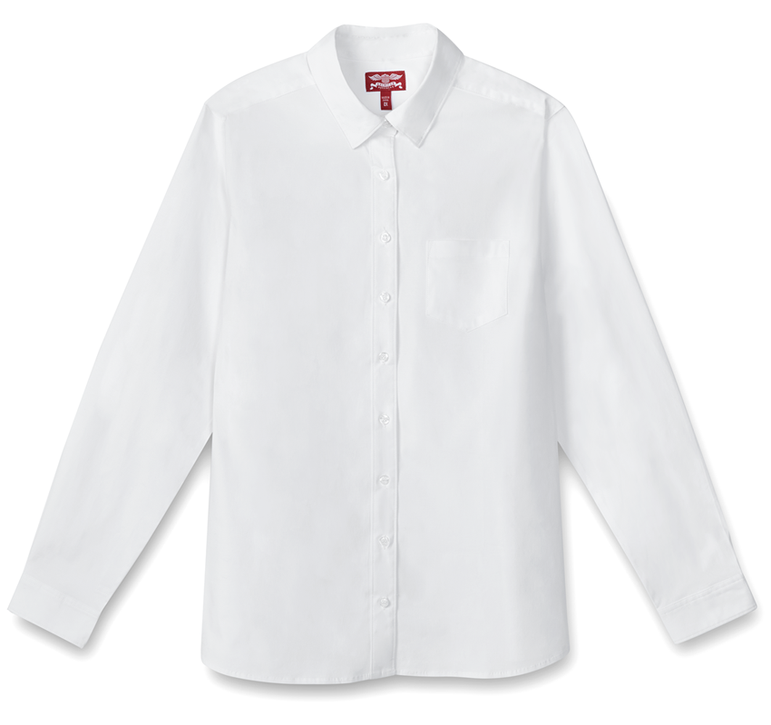 Juniors Long Sleeve Poplin Shirt