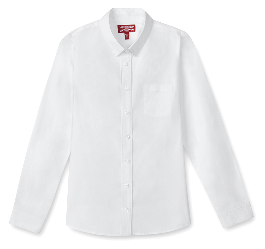 Girl's Long Sleeve Oxford Shirt