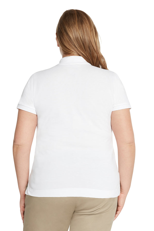 Plus Size Short Sleeve Polo Shirt