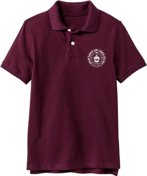 Youth Short Sleeve Polo Shirt w/Embroidery - MVCSD