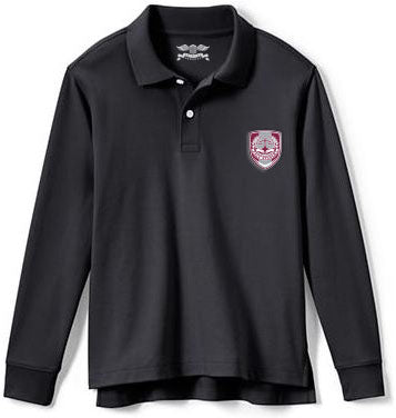Adult Long Sleeve Polo Shirt w/Embroidered Logo - PACE
