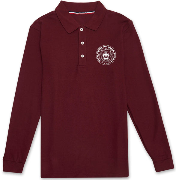 Adult Long Sleeve Polo Shirt w/Embroidery - MVCSD