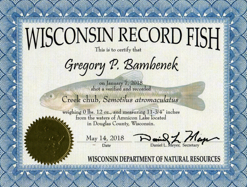 New Wisconsin Record Fish caught on Dr Juice Kairomone Scent