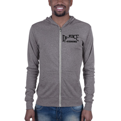 Dr. Juice Fishing Lightweight Unisex zip hoodie