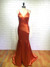 Elastic Satin Mermaid Long Prom Dress Spaghetti Straps