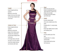 2 Pieces Long Satin Purple Prom Dress Halter Neck Beaded