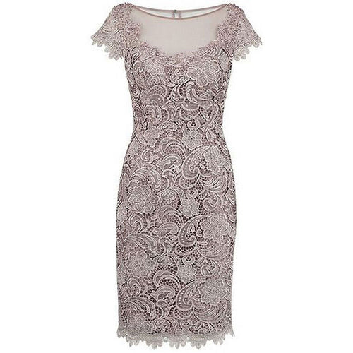 Full Lace Women Mother of the Bride Dresses Cap Sleeves